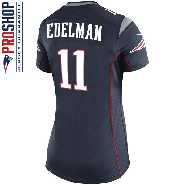 Ladies Julian Edelman Game Jersey-Navy