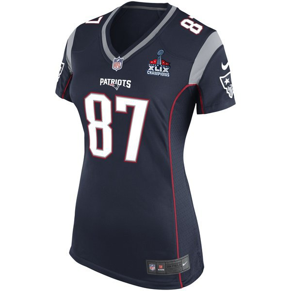 Ladies Nike Rob Gronkowski Game Jersey w/SB Patch-Navy