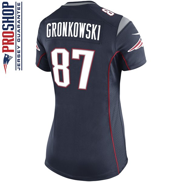 Ladies Nike Rob Gronkowski Game Jersey-Navy