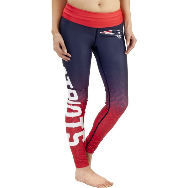 Ladies WordMark Leggings-Navy/Red