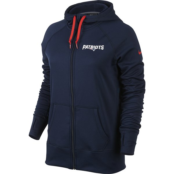 Ladies Wordmark Warp Speed Hood-Navy