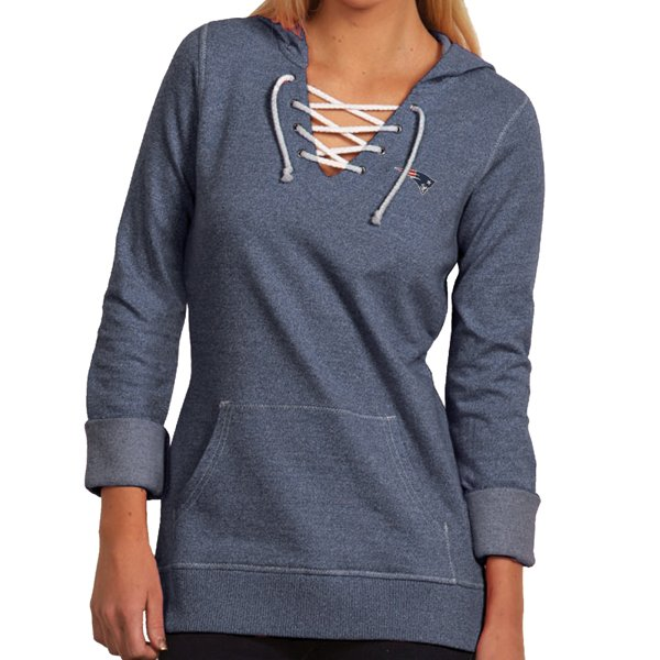 Ladies Lace Up Hustle Hood-Navy