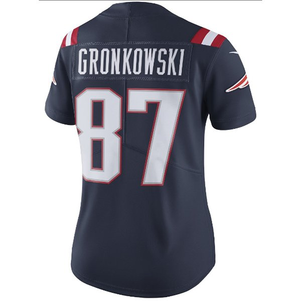 Ladies Nike Rob Gronkowski Color Rush Limited Jersey-Navy