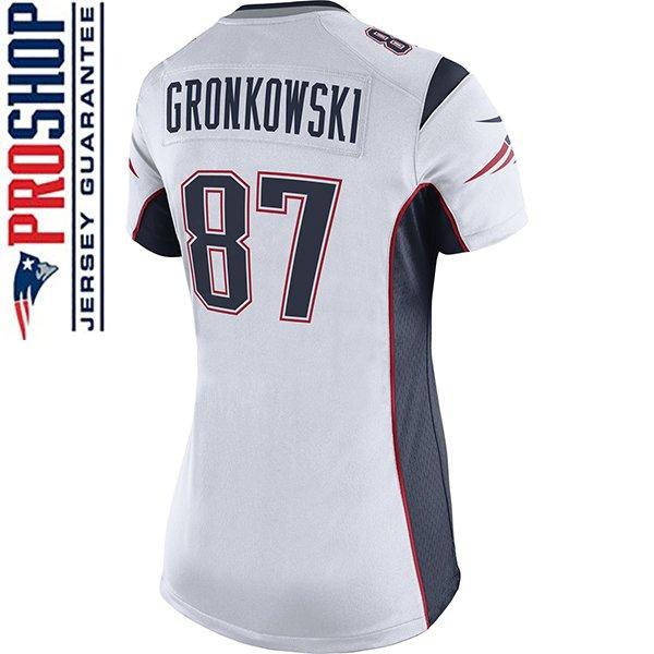 Ladies Nike Rob Gronkowski Game Jersey-White
