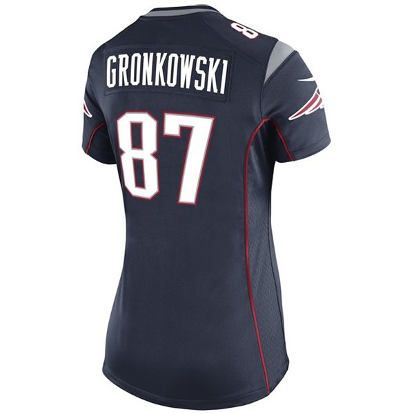 Ladies Nike Rob Gronkowski Game Jersey-Navy