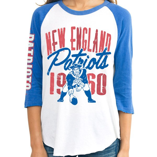 Ladies Junk Food Throwback All American Raglan