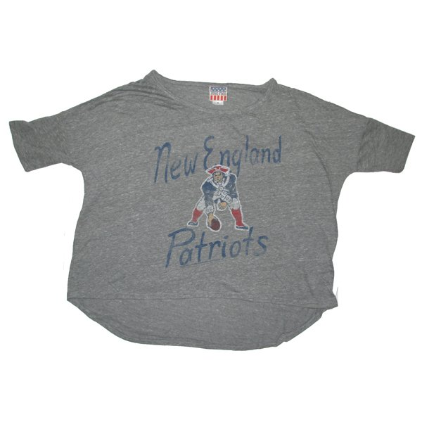 Ladies Junk Food Throwback Game Day Tee-Gray