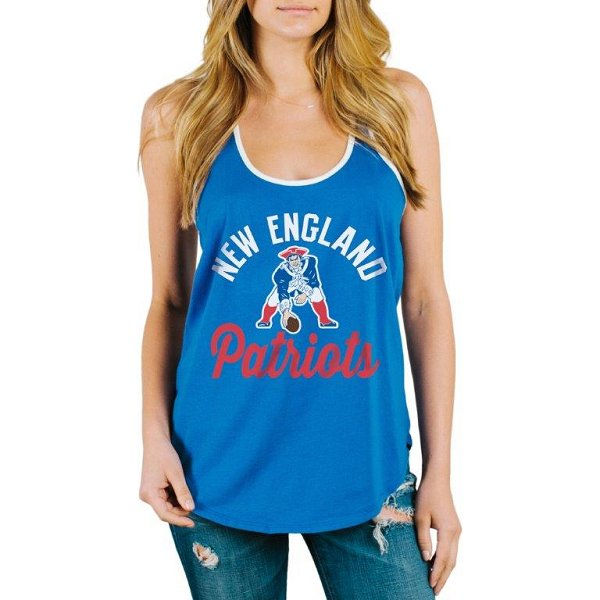 Ladies Junk Food Throwback Goal Line Tank-Royal