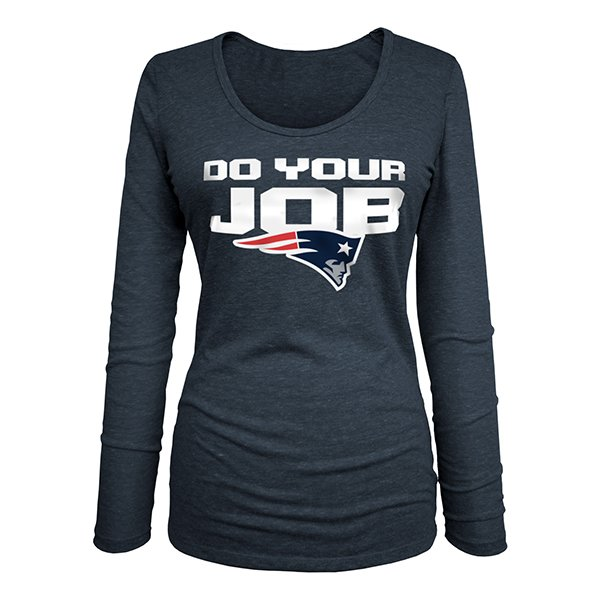 Ladies Do Your Job Long Sleeve Tee-Navy