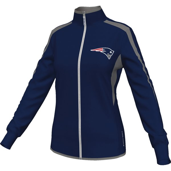 Ladies Majestic Cross Track Jacket-Navy