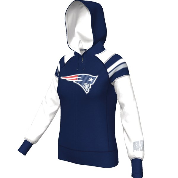 Ladies Majestic Deep Post IV Hood-Navy/White