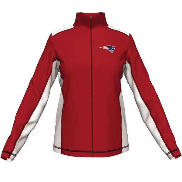Ladies Majestic End Zone Fleece-Red