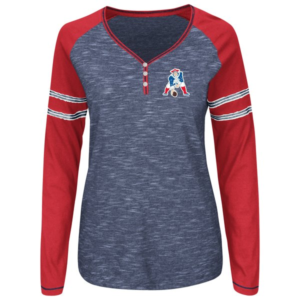Ladies Majestic Throwback Lead Play Top-Royal/Red