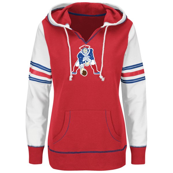 Ladies Majestic Throwback Obsession Hood-Red/White