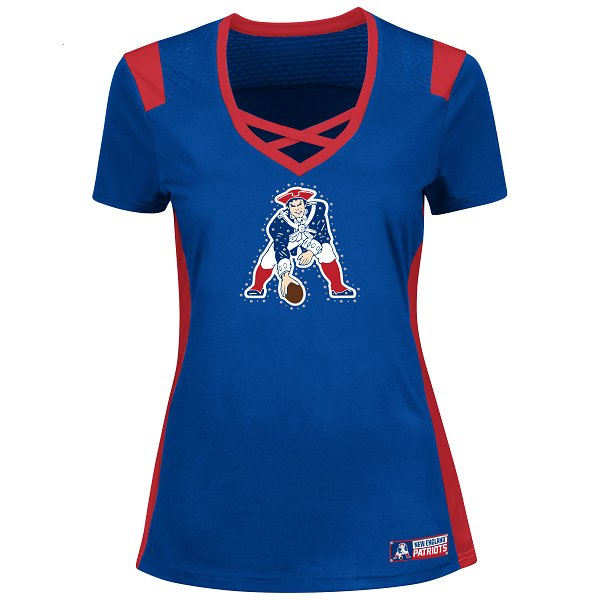 Ladies Majestic 2016 Throwback Draft Me Top-Royal