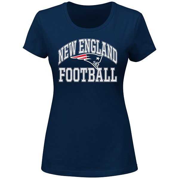 Ladies Majestic Franchise Tee-Navy