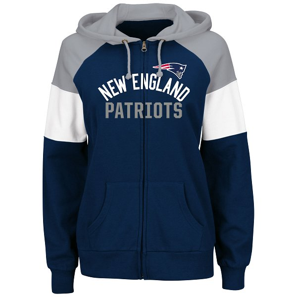 Ladies Majestic Hot Route Full Zip Hood-Navy