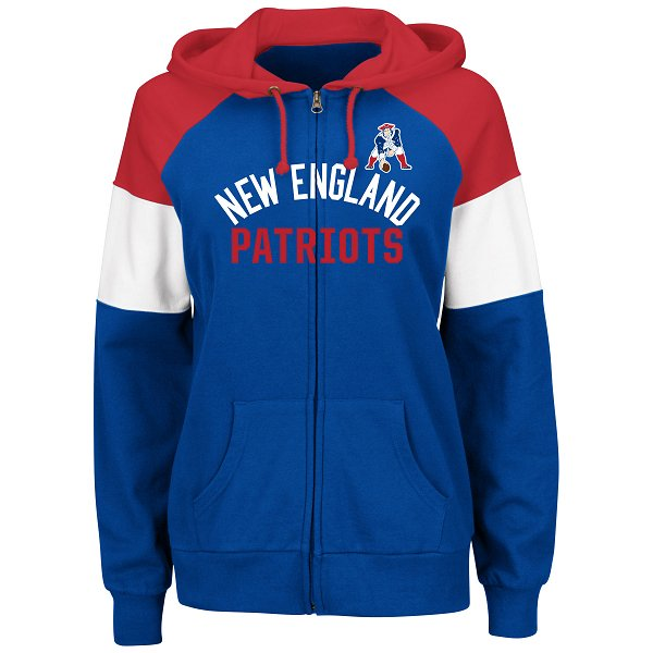 Ladies Majestic Throwback Hot Route Hood-Royal