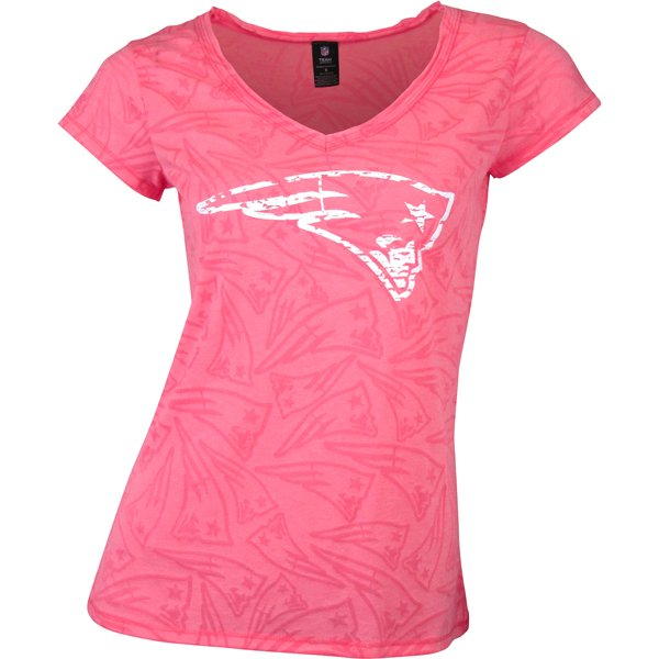 Ladies Neon Short Sleeve Top-Pink