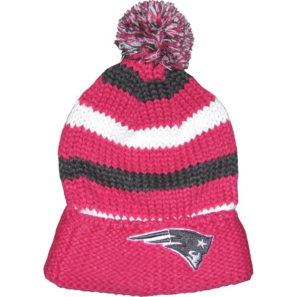 Ladies New Era Chunky Knit Hat-Pink