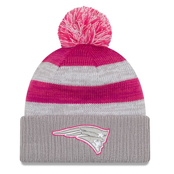 New Era 2016 Ladies BCA Pom Knit-Gray/Pink