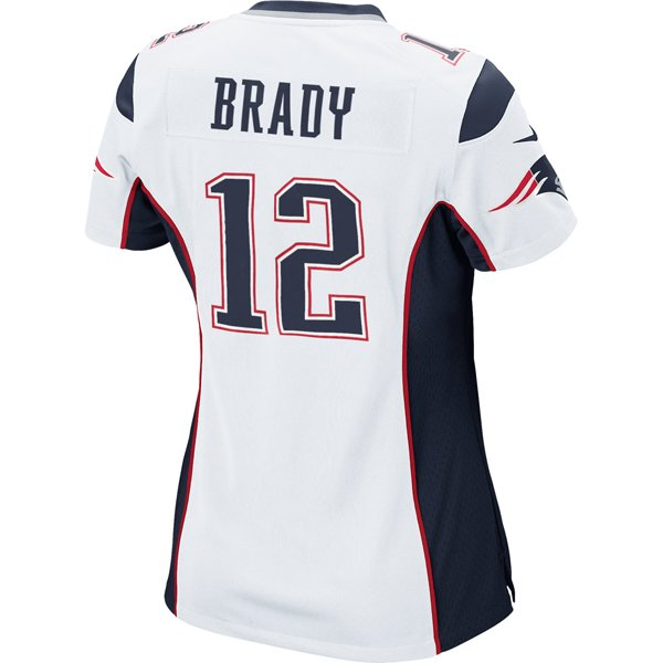 Ladies Nike Tom Brady Game Jersey-White