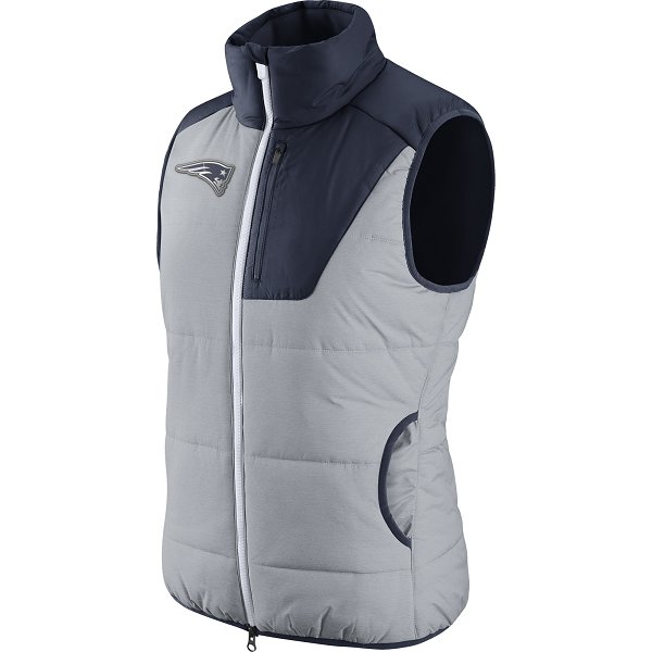 Ladies Nike Champ Drive Vest-Gray/Navy