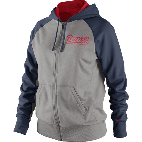 Ladies Nike DieHard FZ Hood-Gray