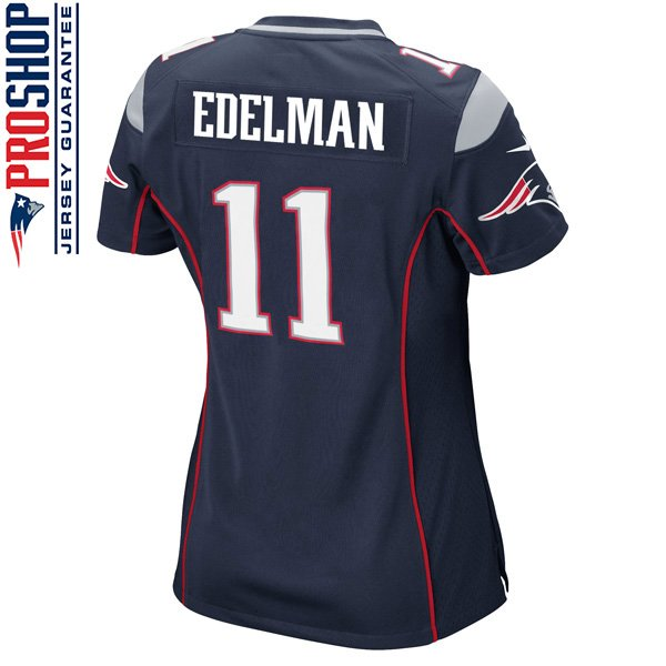 Ladies Nike Julian Edelman Game Jersey-Navy