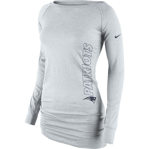 Ladies Nike Epic Long Sleeve Crew-Gray