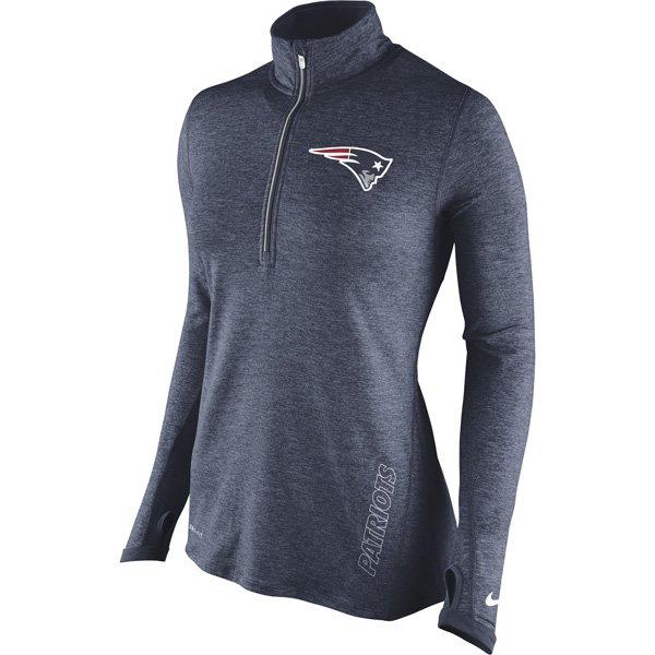 Ladies Nike Element 1/2 Zip Jacket-Navy