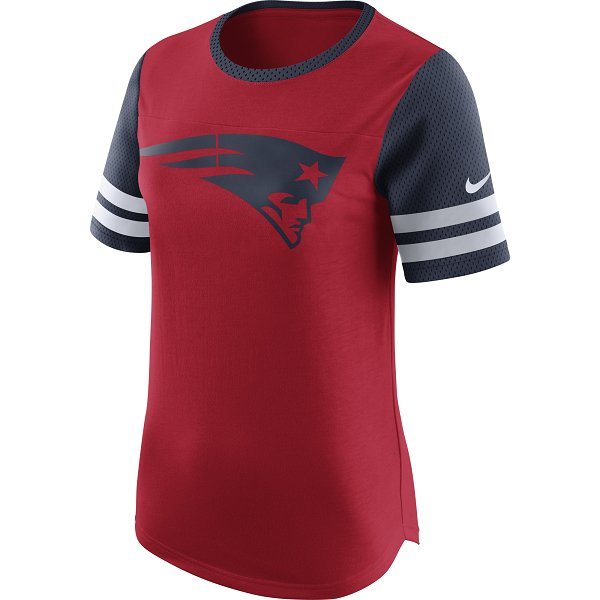 Ladies Nike Gear Up Fan Top-Red
