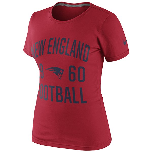Ladies Nike Gridiron Tee-Red