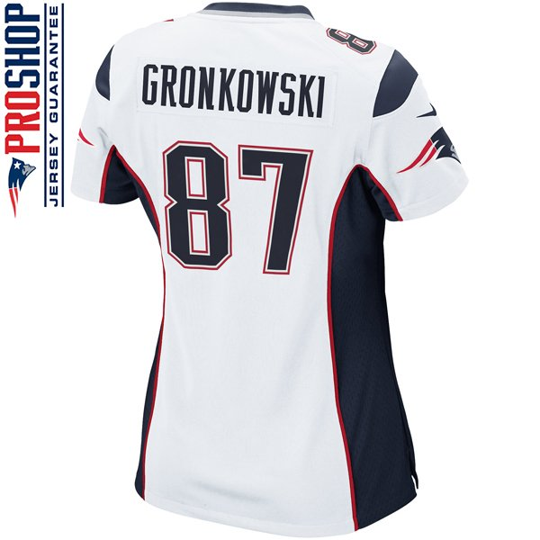 Ladies Nike Rob Gronkowski Game Jersey-White