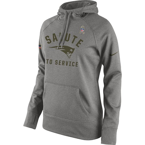 Ladies Nike 2015 Salute to Service Hood-Gray