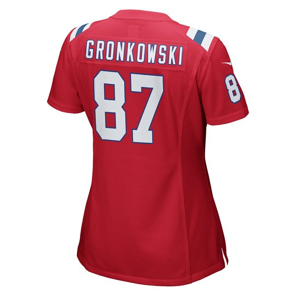Ladies Nike Gronkowski Throwback Jersey-Red