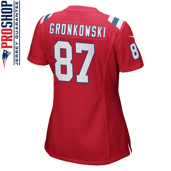 Ladies Nike Rob Gronkowski Throwback JerseyRed