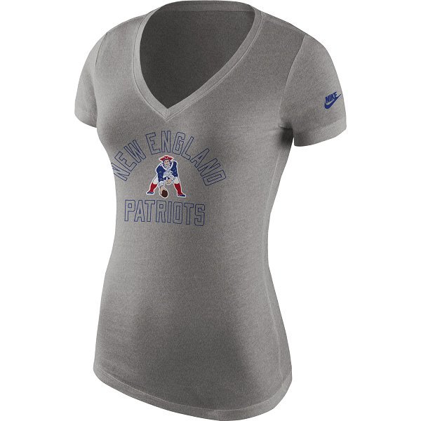 Ladies Nike Throwback Triblend Tee-Gray