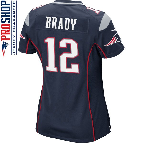 Ladies Nike Tom Brady Game Jersey-Navy