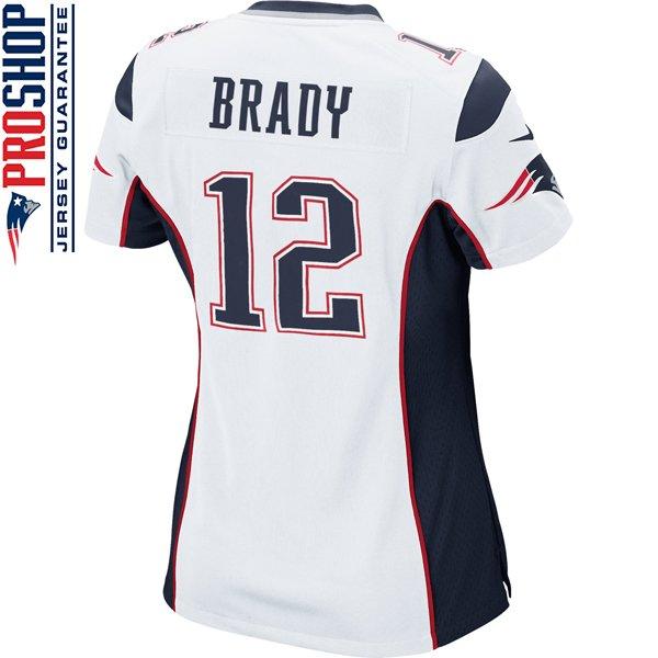 Ladies Nike Tom Brady Game Jersey-White