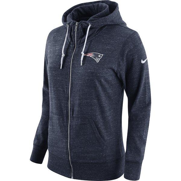 Ladies Nike Vintage Full Zip Hood-Navy