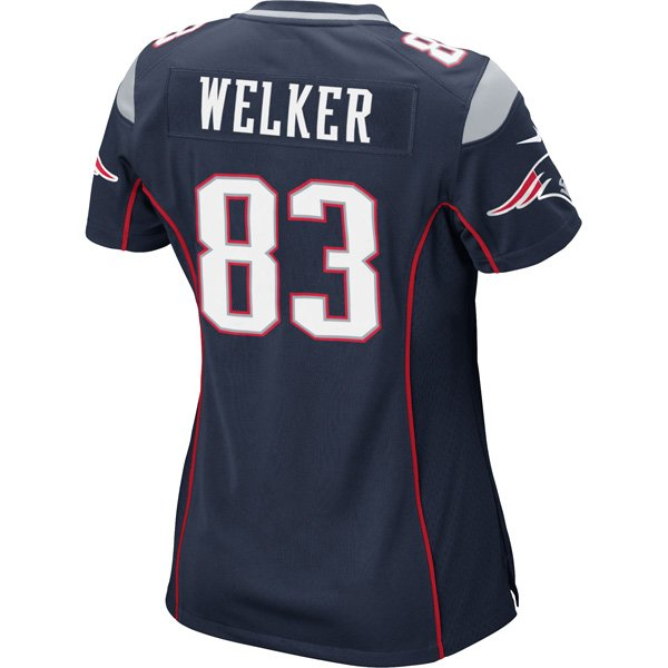 Ladies Nike Wes Welker Game Jersey-Navy