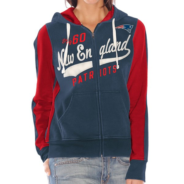 Ladies Point After Full Zip Hood-Navy