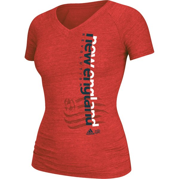 Ladies Revolution Split Decision Tee-Red