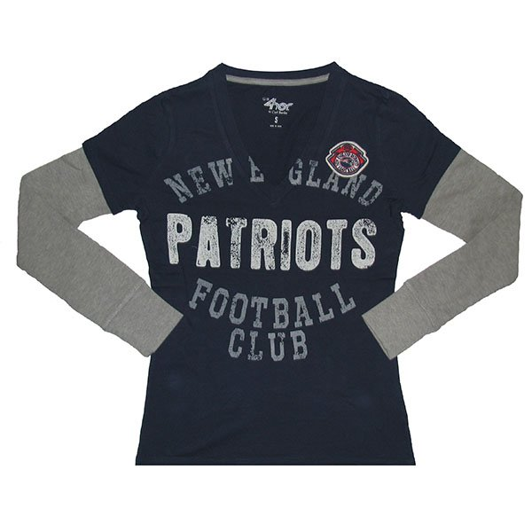 Ladies GIII Run 'n Shoot Layer Tee-Navy/Gray
