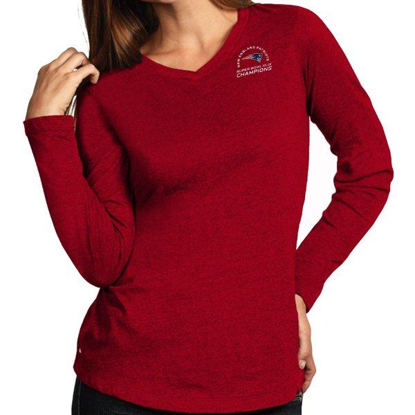 Ladies Super Bowl XLIX Champions Long Sleeve Flip Tee-Red