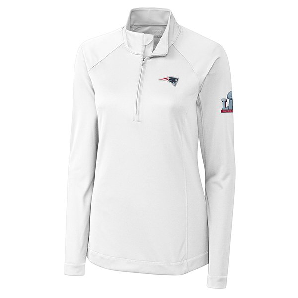 Ladies Super Bowl LI Evolve Top-White