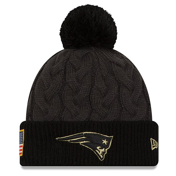 Ladies 2016 Salute To Service Knit Hat-Charcoal/Black