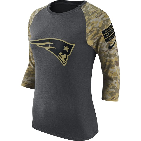 Ladies Nike 2016 Salute To Service Raglan-Charcoal/Camo