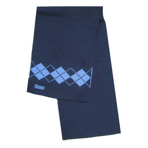Ladies Argyle Scarf-Navy